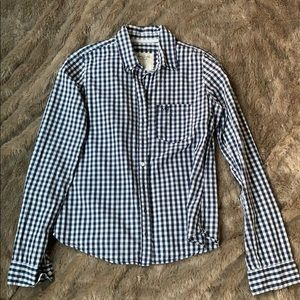 Abercrombie & Fitch Gingham Blouse